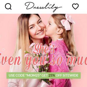 Dresslily Anneler Günü İndirimi – Dresslily Mother's Day Sale