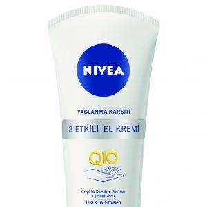 Zamanın yıpratıcı etkilerinden korunmak için  NIVEA Q10 Yaşlanma Karşıtı El Kremi